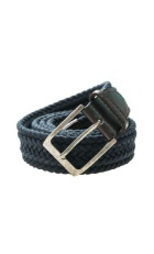 Navy blue braided belt.
