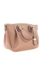 Tan shoulder bag.