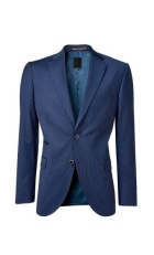 Navy blue suit coat.