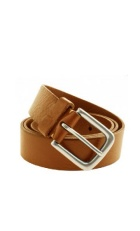 Oak brown colored leather belt.