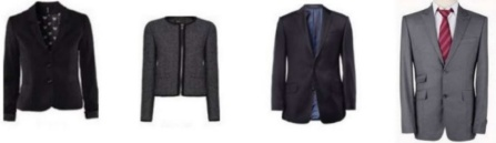 assorted men's and ladies professional suit jackets