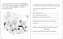 "Two pages from ""Sofia Learns About Research,"" a children's activity book that aims to take the mystery out of clinical studies."