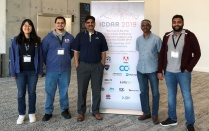 CUBS members standing in lobby at ICDAR 2019.