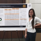 A photo of Alexa's poster presentation about the preliminary analyses conducted over this past summer at the University of Notre Dame.