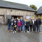 Photograph of UB Studio in front of the Historic Barn, courtesy of Richardson Center Corporation .