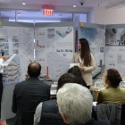 "Mira Shami and Kaetlyn Hanlin presenting to the jury for the ""Urban Life: Self & Society"" Senior Architecture Housing Competition ."