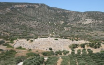 well-preserved remains of an ancient town in Crete.