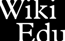 Wiki Eduction Foundation logo, black box with white font.