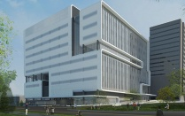 Architectural rendering of the Buffalo Clinical and Translational Research Center.