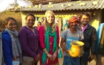 Nicole Little and team of researchers in India