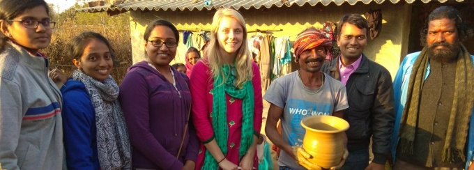 Nicole Little and team of researchers in India.