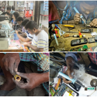 E-waste processing facilities in Bangladesh.