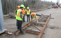 photo of bridge engineers on U.S. 219 project