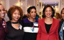 MFSA members posing with Susan Rice, former U.S. National Security Advisor.