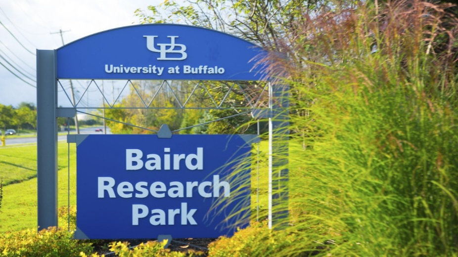 Baird Research Park road sign.