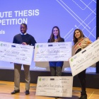 The 2018 winners of the Three Minute Thesis competition.