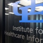 Institute for Healthcare Informatics (IHI) sign.