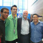 Gustavo with J. Craig Venter at the opening of UB's Clinical and Translational Research Center.