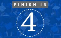 "Image of the number 4 in a circle with the words ""Finish in"" above."
