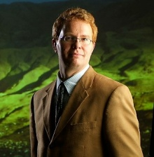 Head shot of Chris Renschler, associate professor of geography.