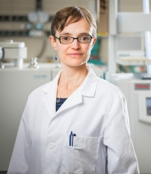 Laboratory portrait of Elizabeth, University at Buffalo faculty expert on climate change and precipitation.