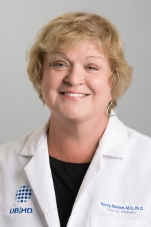 Head shot of Nancy Nielsen, University at Buffalo health care policy expert.