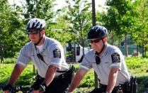 officers on bikes.