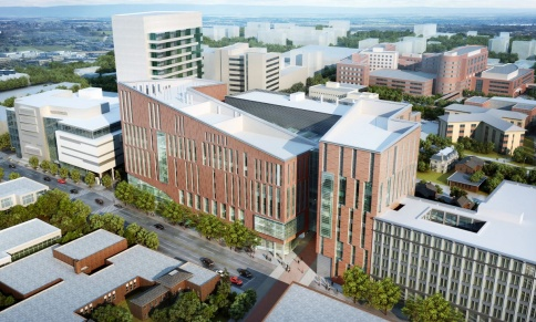 Aerial photo of new medical school design