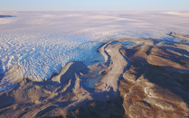 The edge of the greenland ice sheet photographed by Jason Briner.