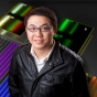 Qiaoqiang Gan is developing a nanoscale photodetector that converts light into energy.