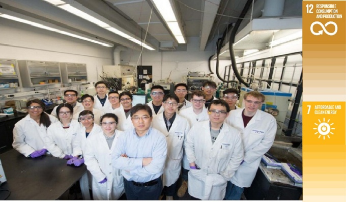 UB researchers in lab