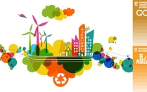 Sustainable Living Fair Icon.