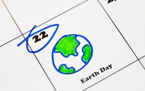 Earth Day on calendar