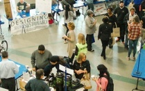Vendors showcase their products at a previous year's Sustainable Living Fair.