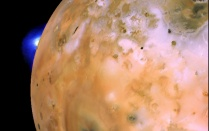 Voyager 1 image of Jupiter's moon, Io. Tracy Gregg is presenting her research on Loki Patera, the largest volcano on Io, at the Lunar and Planetary Science Conference. Photo: NASA/JPL/USGS - See more at: http://www.buffalo.edu/ubreporter/stories.host.html/content/shared/university/news/ub-reporter-articles/stories/2016/03/gregg-planetary-meeting.detail.html#sthash.ilGt9U0o.dpuf