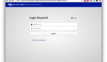 New UBITName login page