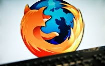 Firefox logo on screen