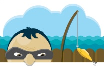 phishing scam illustration.