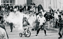 Spring Weekend trike race, 1967.