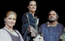 "oyce Stilson, Katie White, Saul Elkin and Pamela Rose Mangus in ""The Careful Glover,"" 2009."