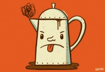 An illustration of a coffee pot