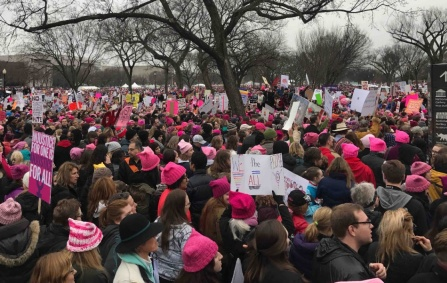 Women's March, Washington, D.C., January 21, 2017. Photograph courtesy of Gwynn Thomas.