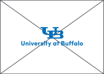 UB lockup with an altered typeface