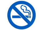 Smoke-free policy graphic.