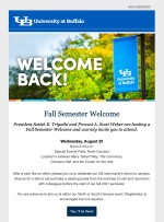 State of the University Address Email Invitation
