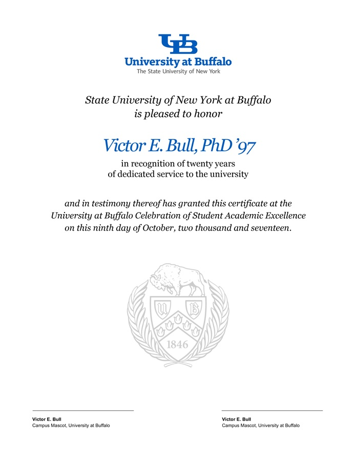 Award Certificate Templates  Identity And Brand  University At Buffalo