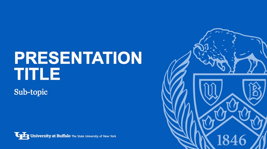 powerpoint slideshows - identity and brand - university at buffalo, Presentation templates