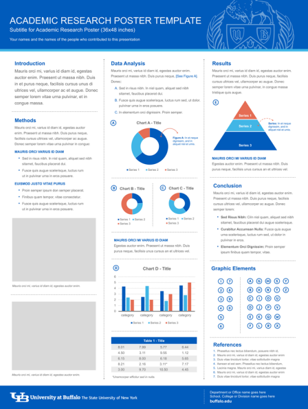 Research poster template identity and brand university for Powerpoint poster templates 48x36