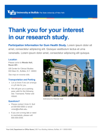 Research study flyer logistics template.