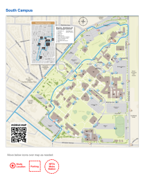 Research study flyer logistics template South Campus map.